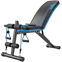 TY-Sit-up board MMM@ Banco Multifuncional con Mancuernas, Ajustable Sentada Banco