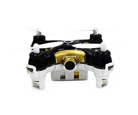 GARY&GHOST Cheerson CX-10C RC Quadcopter Hélicoptère UFO 4CH 4 Canaux Quadricoptère Drone Avion Télécommande Radiocommande 2.4GHz Gyro 6-Axes LED avec Caméra Cam 0.3MP Photo Vidéo FPV Jouet Jeux Flip 3D Cadeau NOIR+OR