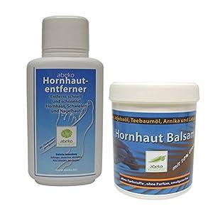 Hornhaut-Entferner + Hornhaut Balsam – abeko – 500 ml – Sparset