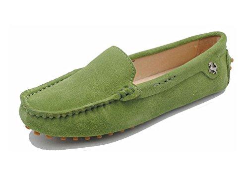 Minitoo da donna casual punta arrotondata Mocassini slipper Flats Light Green