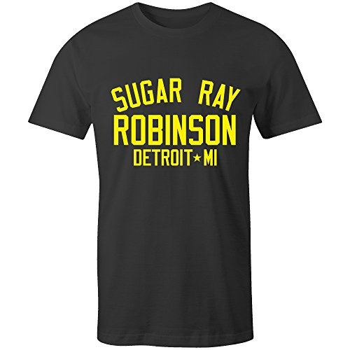 Sugar Ray Robinson Boxing Legend T-Shirt Black/Yellow