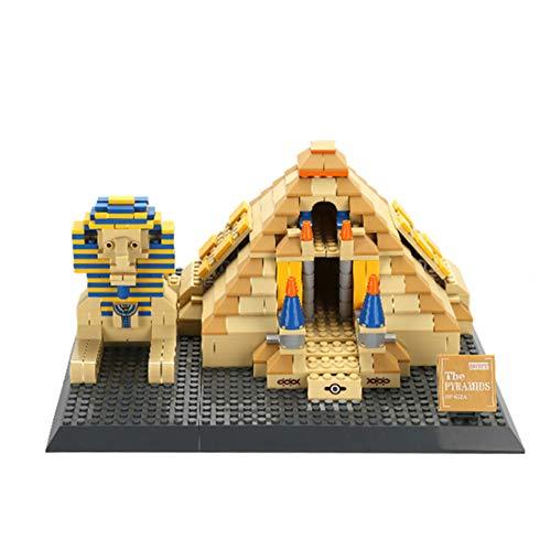 YxFlower 643 Stück Custom Bausteine Modell Architektur Spielzeug,DIY Puzzle Bausatz Modell Baukasten Kompatibel mit großen Marken Militär Baustein - Ägypten Pyramiden von Gizeh