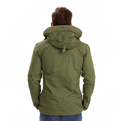 Joe Browns Herren Mantel Remarkable Lightweight Parka Grün - Green (A-Khaki)