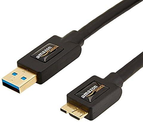 AmazonBasics USB 3.0-Kabel (A-Stecker auf Micro-B-Stecker) 1,8 m (Abwärtskompatibilität zu USB 2.0 und 1.1