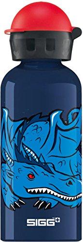 Sigg Jungen Trinkflasche Dragon and Knight, Dunkelblau/Hellblau, 400 ml, 8487.4