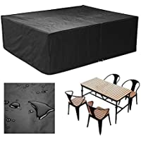 FEMOR Large Waterproof Patio Set Cover Outdoor Garden Furniture Cover/Table Cover for Rectangular Patio Set 2.0  x 1.6  x 0.7 Meter