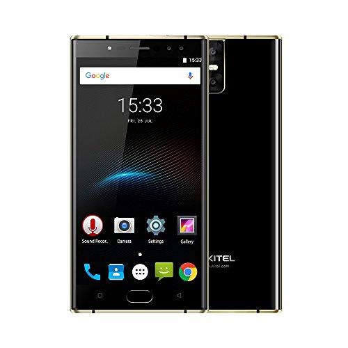 OUKITEL K3 Smartphone 4G FDD-LTE 5.5 Zoll FHD, Android 7.0 Octa-core 4GB RAM+64GB ROM, 4 Kameras 16.0MP+2.0MP, 6000mAh Akku Quick Charge Fingerabdruck, Dual SIM Ohne Vertrag