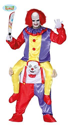 Guirca Schauriges Clownsduo Clown Halloween Carry Me Huckepack Kostüm Herren