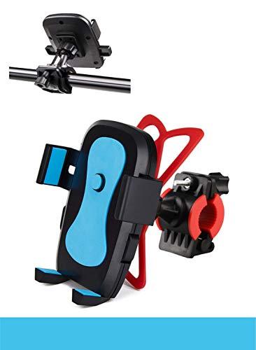 Pelotek Fahrradhalterung/Motorradhalterung, 360 Grad verstellbares Gurtsystem-Design, Rutschfester Gummigriff, passend für alle iPhone, Samsung, LG, HTC, Nokia, Pixel, GPS etc, blau