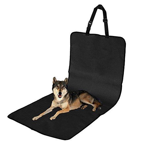 KINGDUO Haustier Sitzabdeckung Wasserdicht Auto Einzelplatz Front Abdeckung Für Hund Pet Seat Protector Schwarz Pet Mat