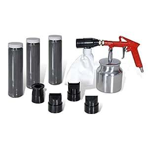 VidaXL 140329 Sandblasting Kit: Gun with 3 Bottles of Sand and 4 Nozzles