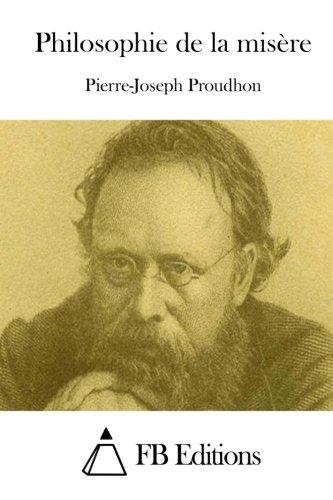 Philosophie de la misère