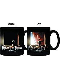 Preisvergleich für Tasse–Attack on Titan–Titan Fenster Hitze 8oz Kaffee Tasse cmgc-aot-wndw