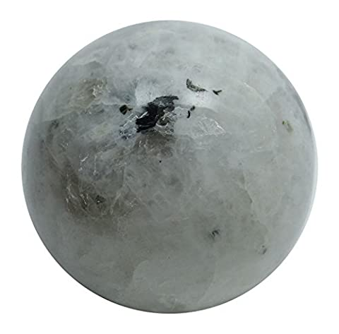 Harmonize Rainbow Moonstone Mini Sphere Ball Balancing Art Reiki Healing Stone Table Decor