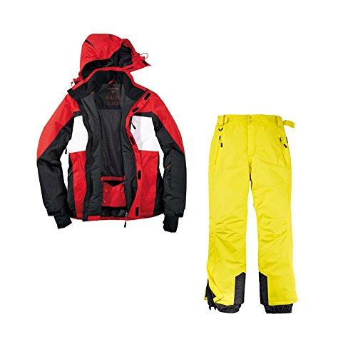Skianzug 2tlg. Funktioneller Skianzug Für Herren M-8 Gr. 50 Farbe.Rot-Schwarz-Weiß-Gelb Schneeanzug Thinsulate Skijacke