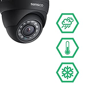 TRUE-1080p-SANSCO-4-Channel-FHD-CCTV-Camera-System-with-4-2-Mega-pixel-Indoor-Outdoor-Dome-Cameras-and-1TB-Internal-Hard-Drive-2MP-Live-Streaming-RecordingPlayback-1080p-Smart-DVR-Instant-Email-Alerts