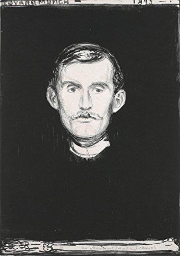 Edvard Munch - Self-Portrait with Skeleton Arm - Small - Semi Gloss - Black Frame