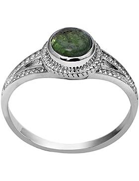 Banithani 925 Sterling Silber Grün Turmalin Stein Finger Ring Indian Fashion Schmuck