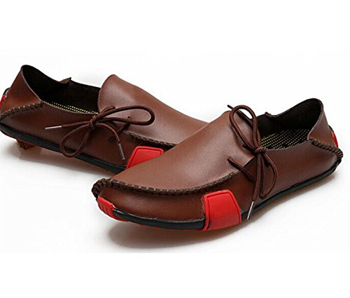 Herren Slipper Slip ons Sneaker Lederoptik in mehreren Farben Braun