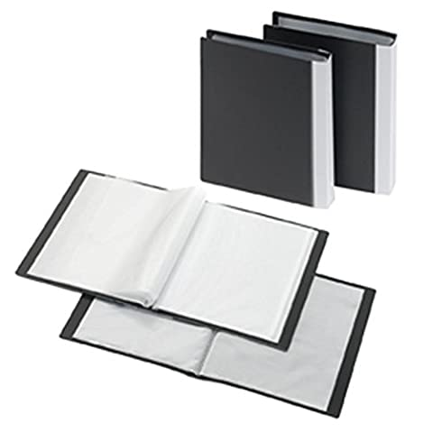Präsentations-Sichtbuch A5, 40 Hüllen, PP, schwarz