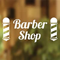 Pali Barbers Shop vinyl Sign parrucchieri Hair Salon finestra scritta adesivo