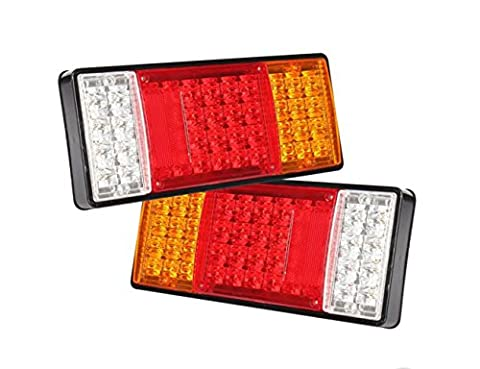 44 LEDs UTE Boat Trailer Truck Van Indicator Tail Lights - Set of 2