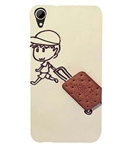 EPICCASE Suitcase biscuit Mobile Back Case Cover For HTC Desire 828 (Designer Case)