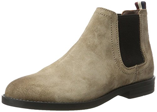 Hilfiger Denim Damen G1385ETTY 1B Chelsea Boots, Beige (Taupe Grey), 40 EU