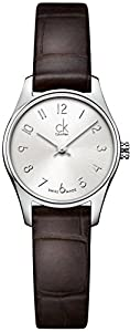 Calvin Klein-Reloj de pulsera analógico para mujer cuarzo piel K4D231G6 de Calvin Klein