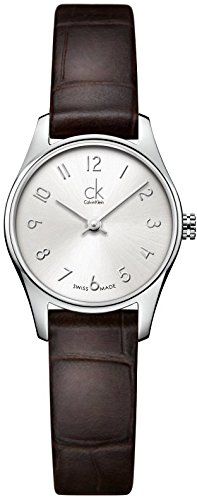 Calvin Klein Women's Quartz Watch with Black Dial Analogue Display Quartz Leather K4D231G6