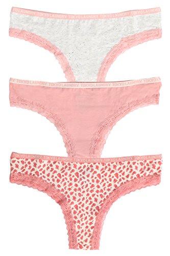 Tokyo Laundry Damen Taillenslip grau grau Small Ice Grey/Blush Pink/Ivory