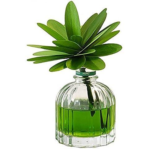 Difusor de aroma en envase de cristal, modelo flor verde