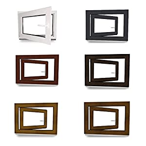 Kellerfenster – Fenster – Dreh- & Kippfunktion – innen anthrazit/außen anthrazit – BxH: 50 x 40 cm – 500 x 400 mm – DIN…