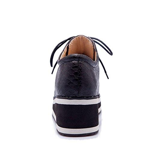 Material Do Macio Puramente Rendas Dedo Baixo Pé Sapatos Salto Do Bombas Redor Mulheres Ao Allhqfashion Pretos Mais 0wxCTwq1