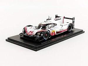 SPARK-Coche en Miniatura de colección, s5845, Color Blanco/Negro/Rojo