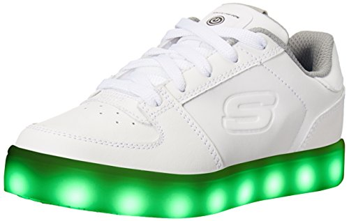 Skechers Jungen Energy Lights Elate Sneaker, Weiß (White), 35 EU