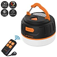 lanktoo 2-In-1 Rechargeable Camping Lantern & Power Bank Charger 6400mAh - IP65 Ultral Bright Emergency Lamp Outdoor…