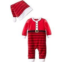 CuteOn Unisexo Bebé Navidad Santa Buzos Disfraz Navidad Traje + Sombrero juego