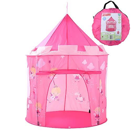 Georgie Porgy Kleine Fee Einhorn Mädchen Pop Up Spielhaus Tragbares Zelt Faltbare Burg Indoor Outdoor Spielzeug Garten (kleine Fee Einhorn Rosa Stadt)