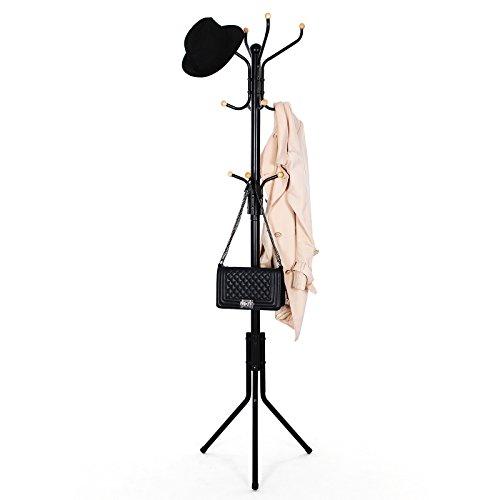 comprare on line SONGMICS Stand Appendiabiti Attaccapanni Ometto da Pavimento 44 x 182 cm Nero RCR19B prezzo