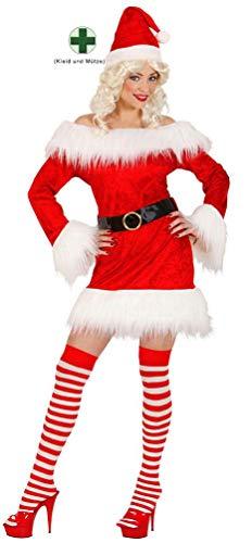 Nikolaus Kostüm Frauen - Karneval-Klamotten Weihnachtsfrau Kostüm Damen Weihnachtskostüm Weihnachten