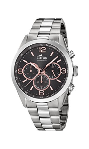 Lotus Watches Mens Chronograph Quartz Watch with Stainless Steel Strap 18152/8