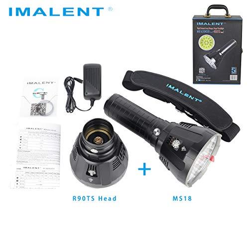 IMALENT MS18LK Taschenlampen-Set inkl. MS18 und R90TS Kopf und Akkupack, geeignet für Outdoor Camping -