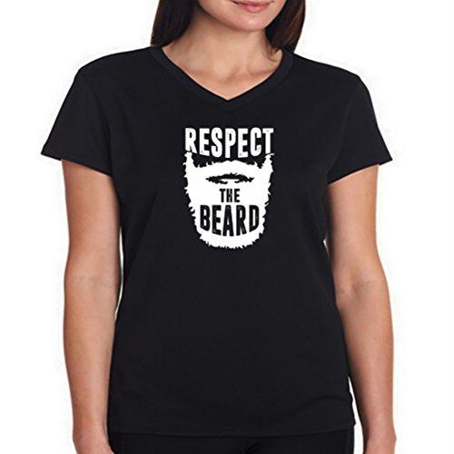 Maglietta scollo a V da donna Respect the beard