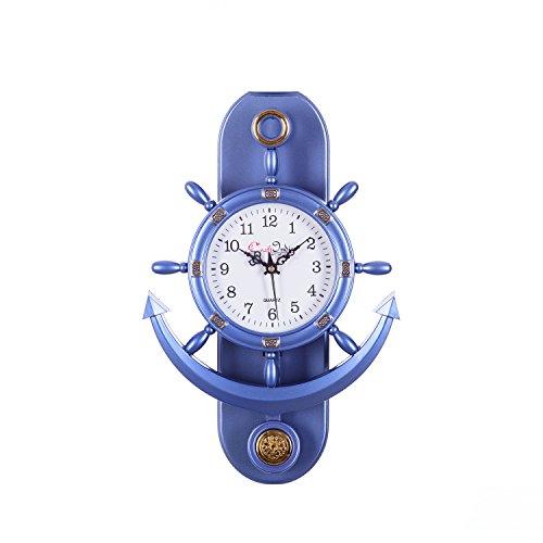 c31e914af eCraftIndia Decorative Retro Anchor Plastic Pendulum Wall Clock (31 cm x 3  cm x 39 ...