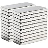 Neomag Mini Pack 20mm x 5mm X 2mm Rectangular Shaped (20 Pieces) Nickel Plated N35- Ni