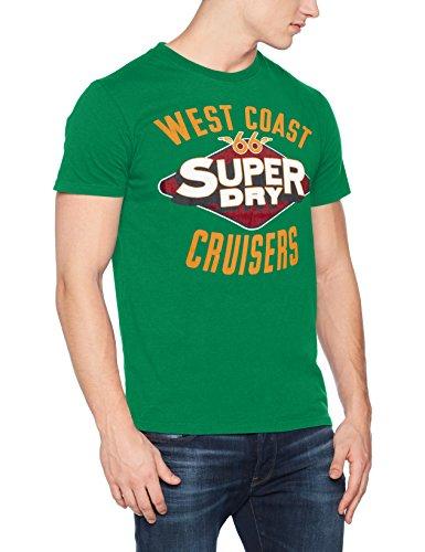Superdry Herren T-Shirt Reworked Classic Lite Tee Verde (Frontier Green)