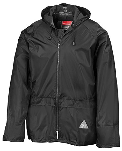 Result Herren Regenmantel Heavyweight Waterproof Jacket & Trouser Set Black