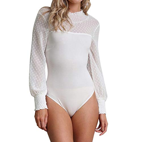 URSING Bodysuits Damen Frauen Punkt Drucken Sexy Skinny -