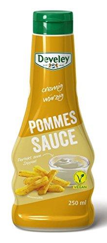 Develey cremig würzige Pommes Sauce vegan (250ml Flasche)
